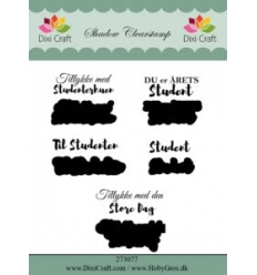 "Dixi Craft Shadow Clearstamp ""Student""."