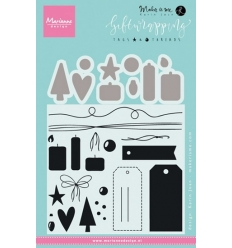 MARIANNE DESIGN STEMPEL & DIES KJ1716 Giftwrapping: Tags & Threads.