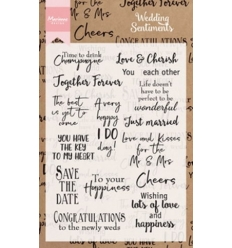 MARIANNE DESIGN STEMPEL CS0999 Wedding Sentiments.
