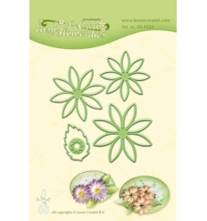 "LEANE DIE CUT/EMB ""Easy Flower 001"" 45.4551."