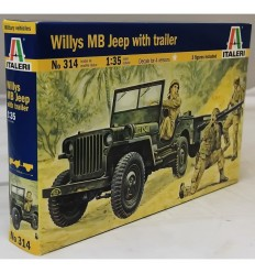 Italeri 314 Willys MB Jeep with trailer