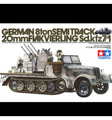 Tamiya 35050 German 8Ton SemiTrack 20mm Flakvierling Sdkfz 7/1