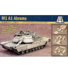 Italeri 6438 M1 A1 Abrams with Resin Detailed Parts