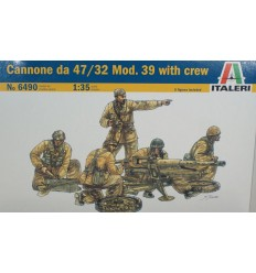Italeri 6490 1/35 Cannone da 47/32 Model 39 with Crew