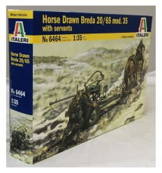 Italeri 6464 1/35 Horse Drawn Breda 20/65 mod.35 with servants
