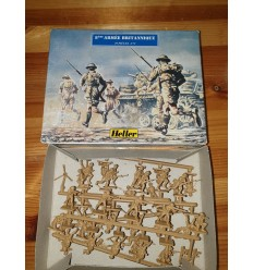Heller 79609 1:72 British 8th army Plastic Figure Bagged Kit