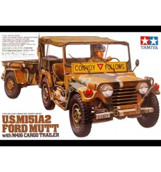 Tamiya 35130 1/35 US M151A2 Ford Mutt with M416 Cargo Trailer