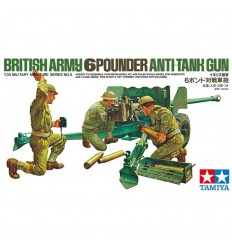 Tamiya 35005 British Army 6 Pounder Anti-Tank Gun 1:35