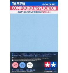 Tamiya 87090 Compound Applicator (3-color set) Pink Blue White